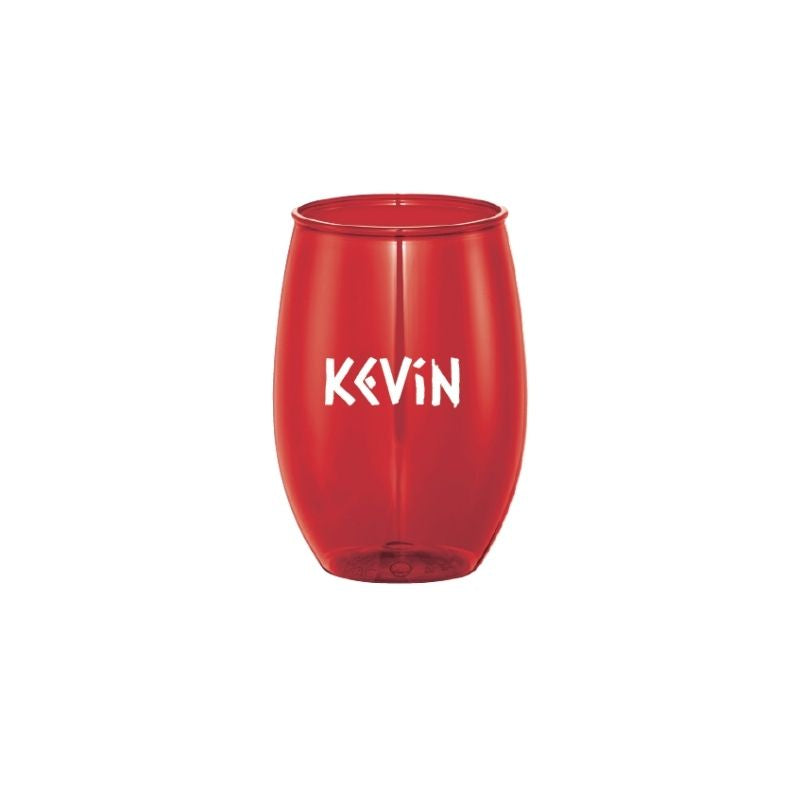 Personalised 15oz Stemless Wine Cup - Red