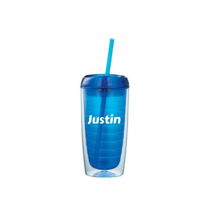 Personalised Twister 16oz Acrylic Tumbler - Blue