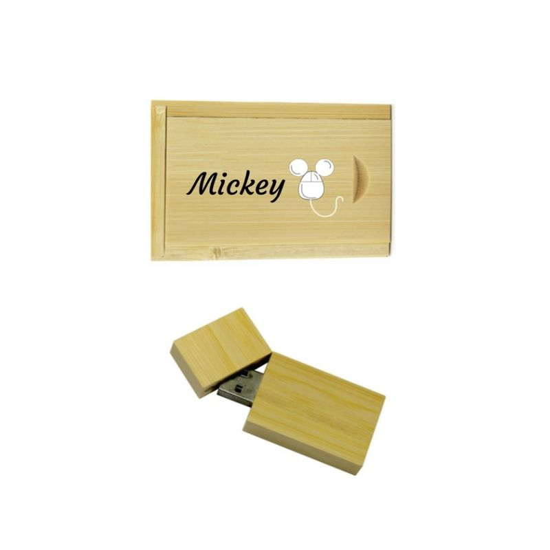 Personalised 32GB Bamboo Flashdrive in Gift Box