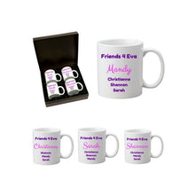 Load image into Gallery viewer, Personalised 4pc Mug Set in Gift Box