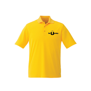 Personalised Edge Mens Short Sleeve Polo - Yellow