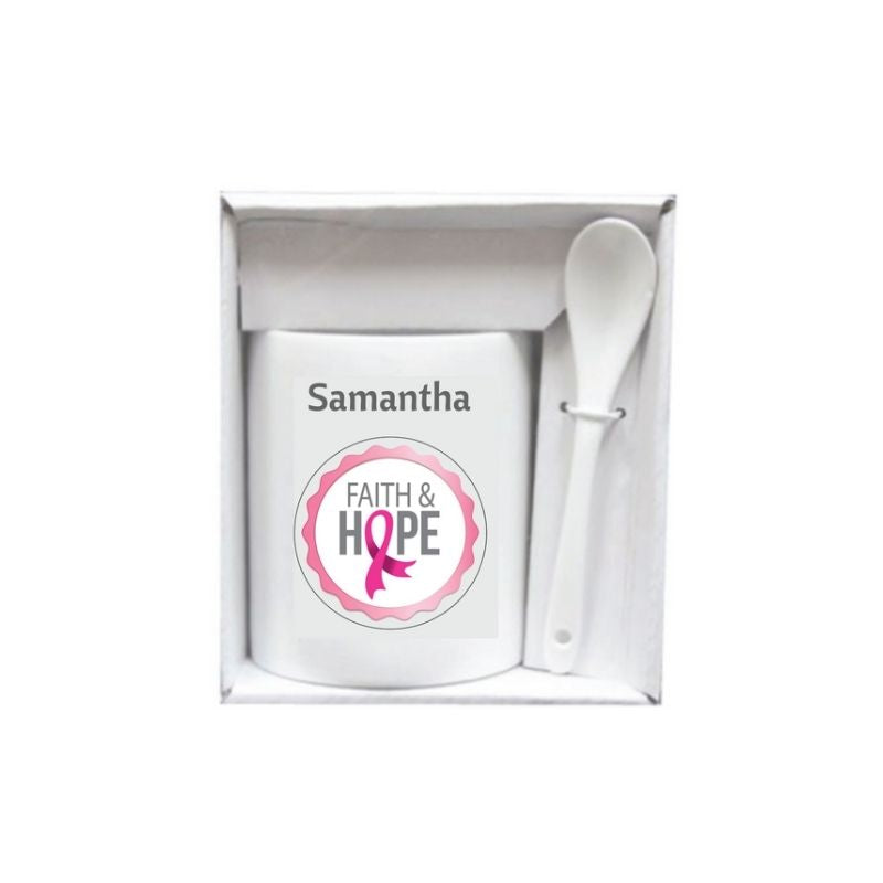 Personalised Gift Boxed Ceramic Mug and Spoon