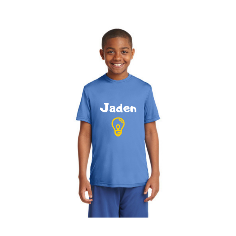 Personalised Kids Competitor T-Shirt - Light Blue