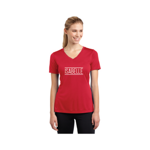 Personalised Ladies Competitor V-Neck T-Shirt - Red