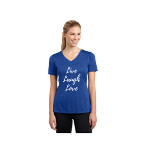 Personalised Ladies Competitor V-Neck T-Shirt - Royal Blue