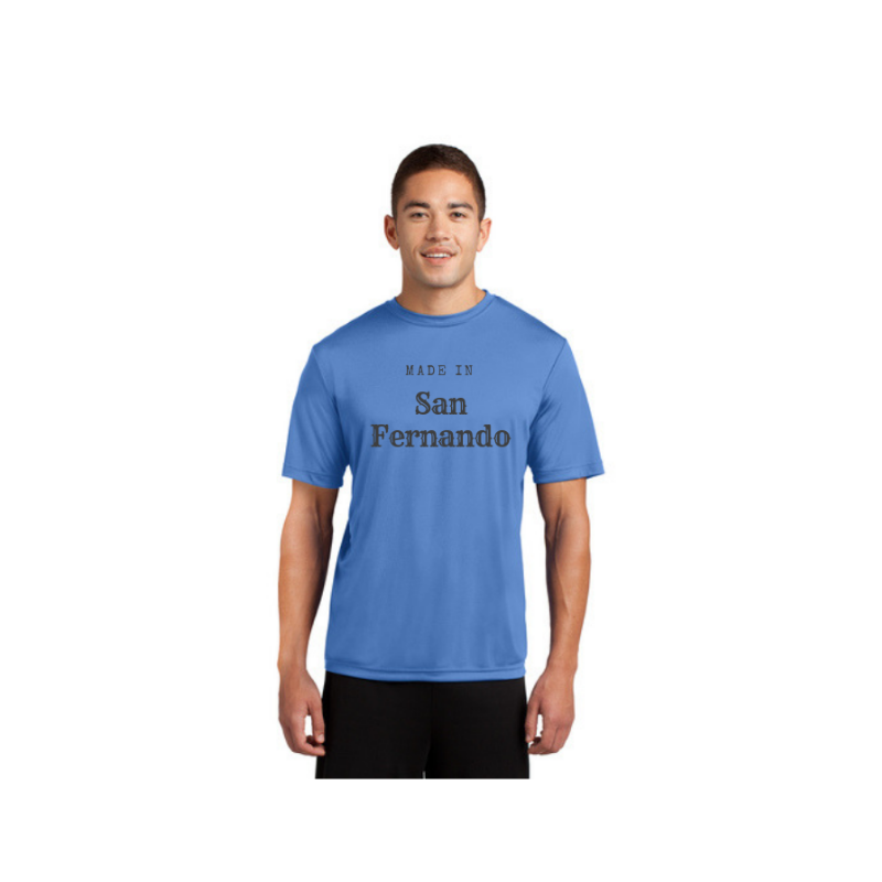 Personalised Mens Competitor T-Shirt - Light Blue