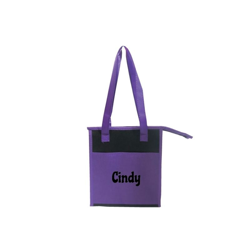 Personalised Munch & Lunch Cooler Tote - Purple