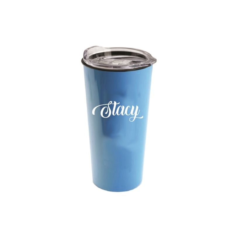 Personalised Roadmaster 18oz Travel Tumbler - Light Blue