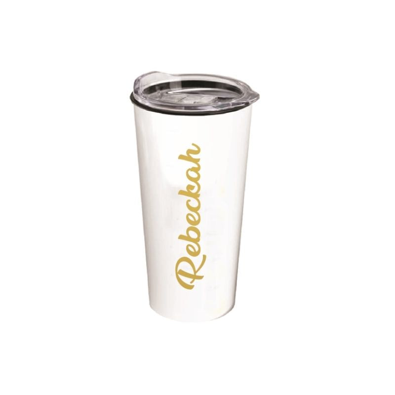 Personalised Roadmaster 18oz Travel Tumbler - White