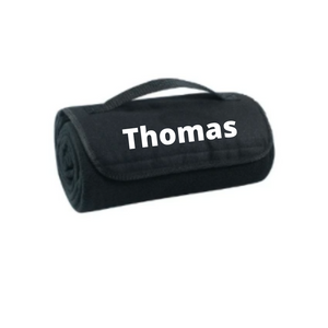 Personalised Roll Up Blanket - Black