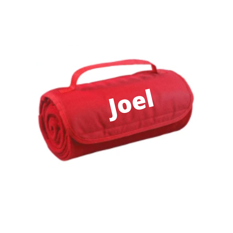 Personalised Roll Up Blanket - Red