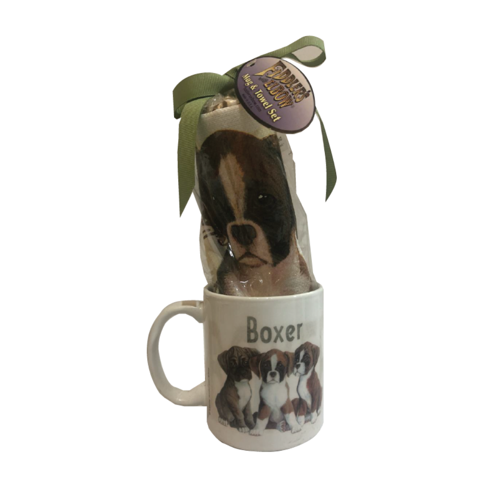 Pug Dogs Mug and Towel Set