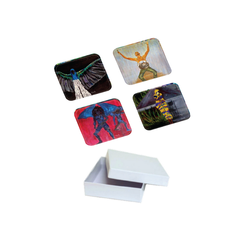 Ysharda Clement – 4PC Acrylic Coaster Set – Carnival Collection