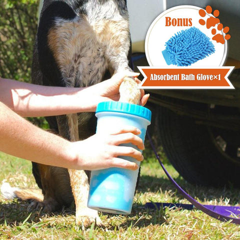 Protable pet Cleaning Brush for Cat Dog Cat - Paw Washing Cup
