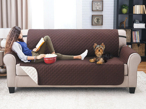 Reversible Waterproof Pet Sofa and Couch Cover for dog and cat
