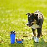 pet water bottle with bowls