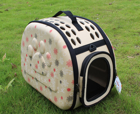 Foldable Pet Dog Cat Carrier Cage Collapsible Travel Kennel-Puppy Kitty Small