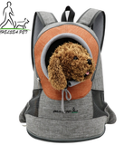 Comfortable Dog Cat Carrier Backpack, Puppy Pet Front Pack with Breathable for Hiking Outdoor Travel