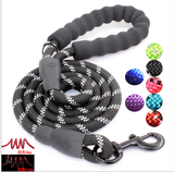 Reflective Dog Leash Mountain Climbing Nylon Braided Heavy Duty Dog Training Leash for Large and Medium Dogs Walking Leads
