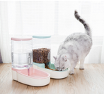 Automatic pet feeder and water with gravity fed design