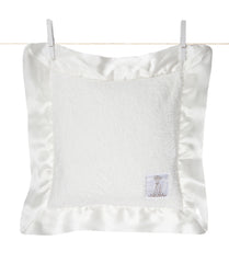 Satin Chenille Pillow White