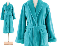 Sheepy Fleece Robe Aqua