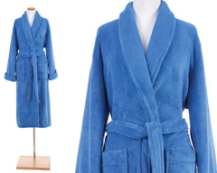 Sheepy Fleece Robe French Blue
