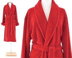 Sheepy Fleece Robe Crimson