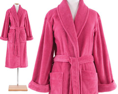 Sheepy Fleece Robe Fuschia