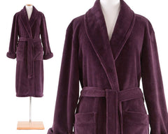 Sheepy Fleece Robe Plum