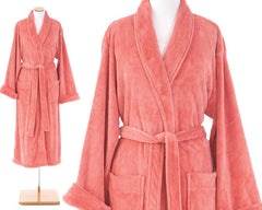 Sheepy Fleece Robe Coral
