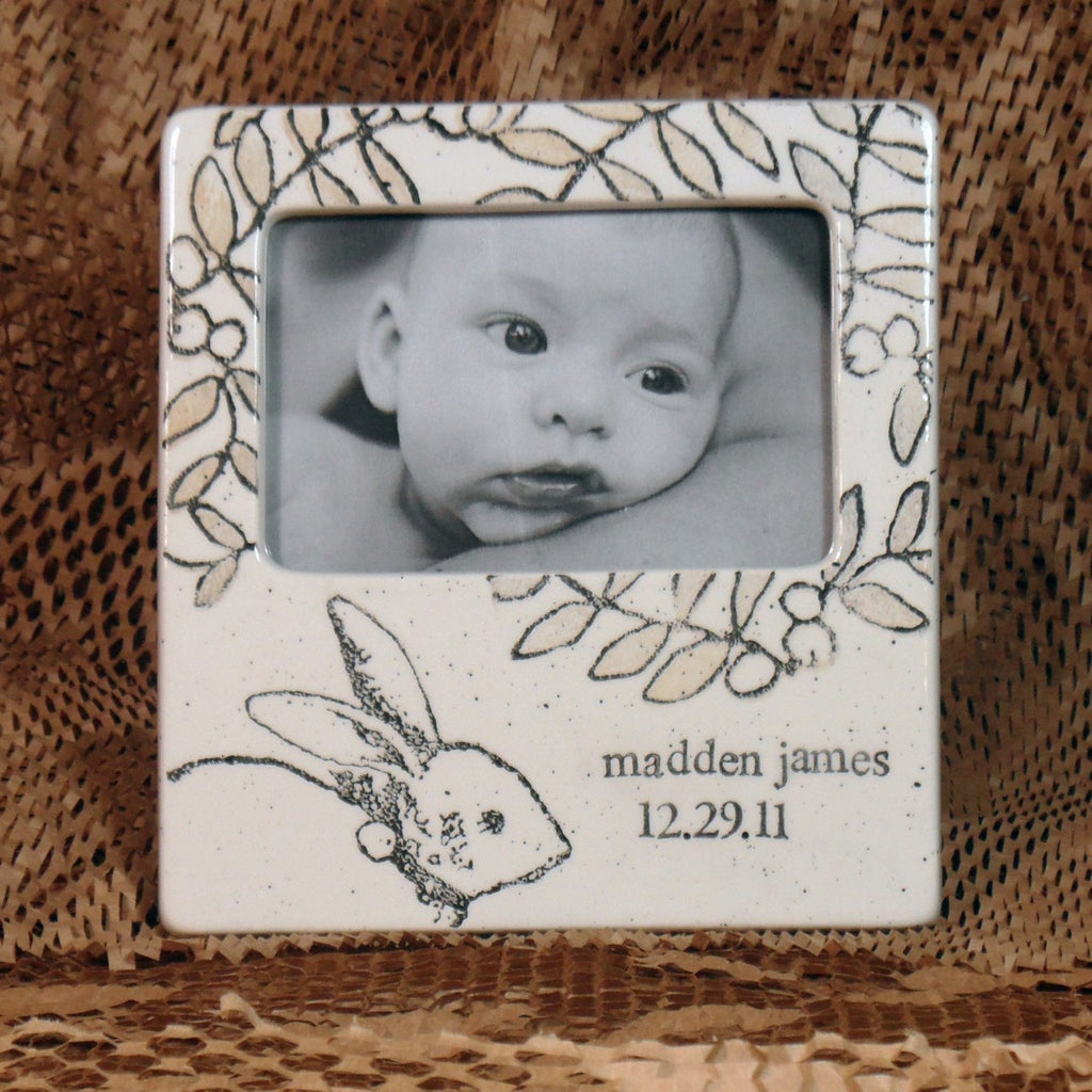 Baby Bunny Frame by Museware Pottery at Arabesque of Vermont