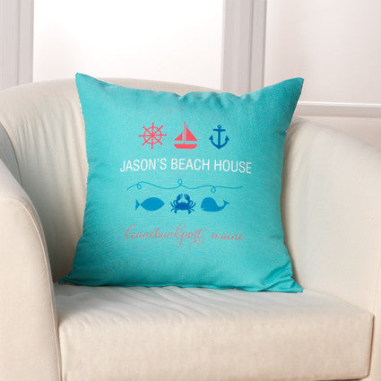 Beach House Pillow by Checkerboard