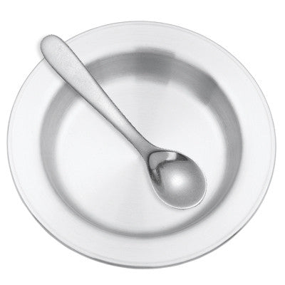 Classic Dish and Spoon by Danforth Pewter at Arabesque of Vermont