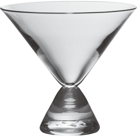 Geo Stemless Martini Glass by Simon Pearce