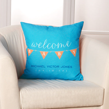 Welcome Baby Pillow by Checkerboard