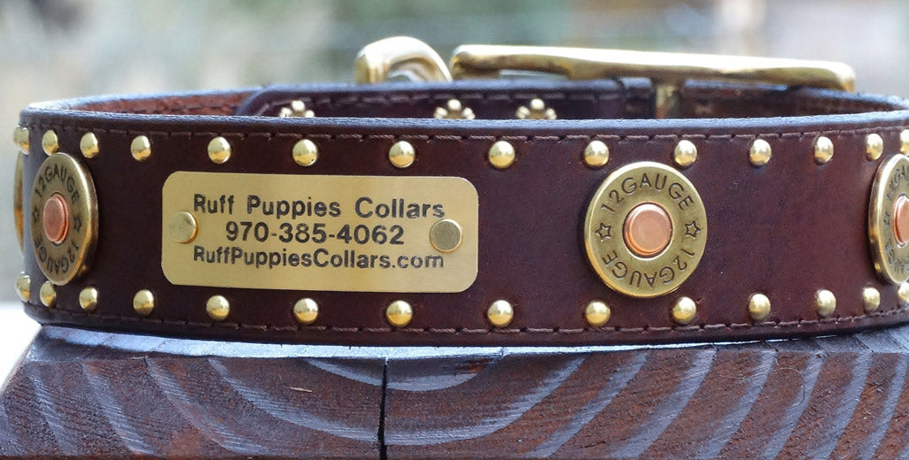 hunting dog collars with Winchester Colt 45 shells
