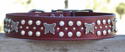 unique dog collars with butterfly conchos for huge dogs