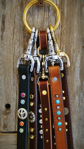 custom leather leads