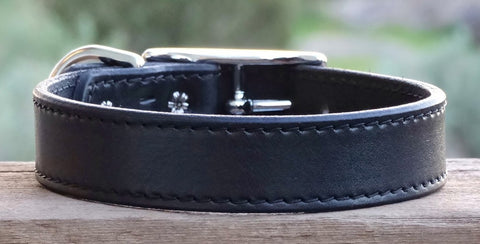 classic leather dog collars