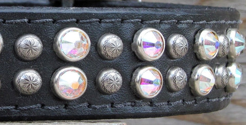 big designer dog collar with Swarovski cyrstals