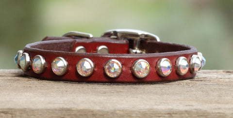 Extra small dog collar with Rhinestones