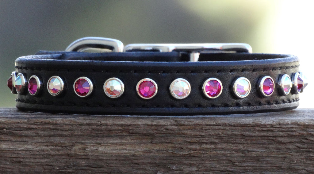 Medium Bling Designer dog collar with Swarovski crystals