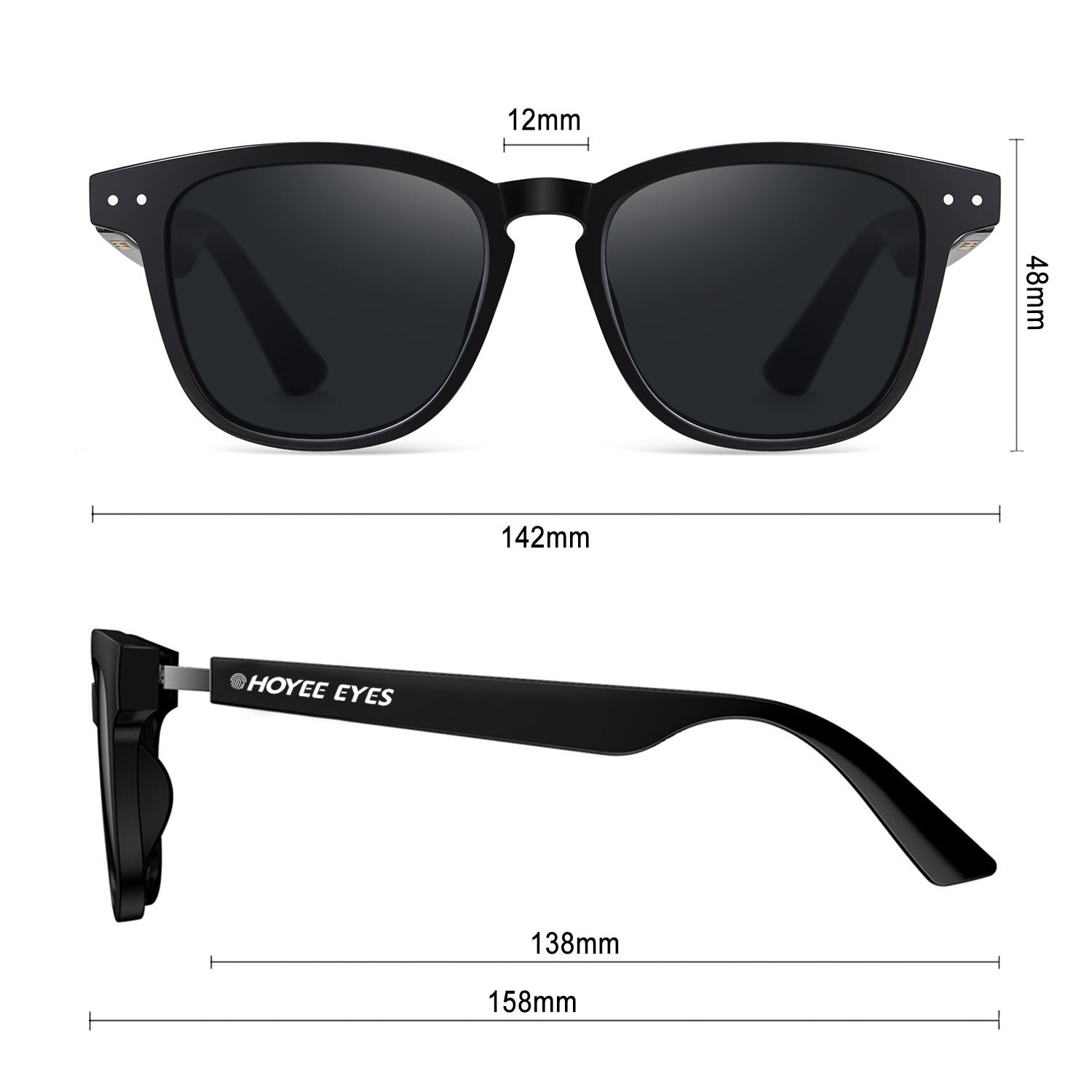 hoyee eyes astrid smart sunglasses dimensions
