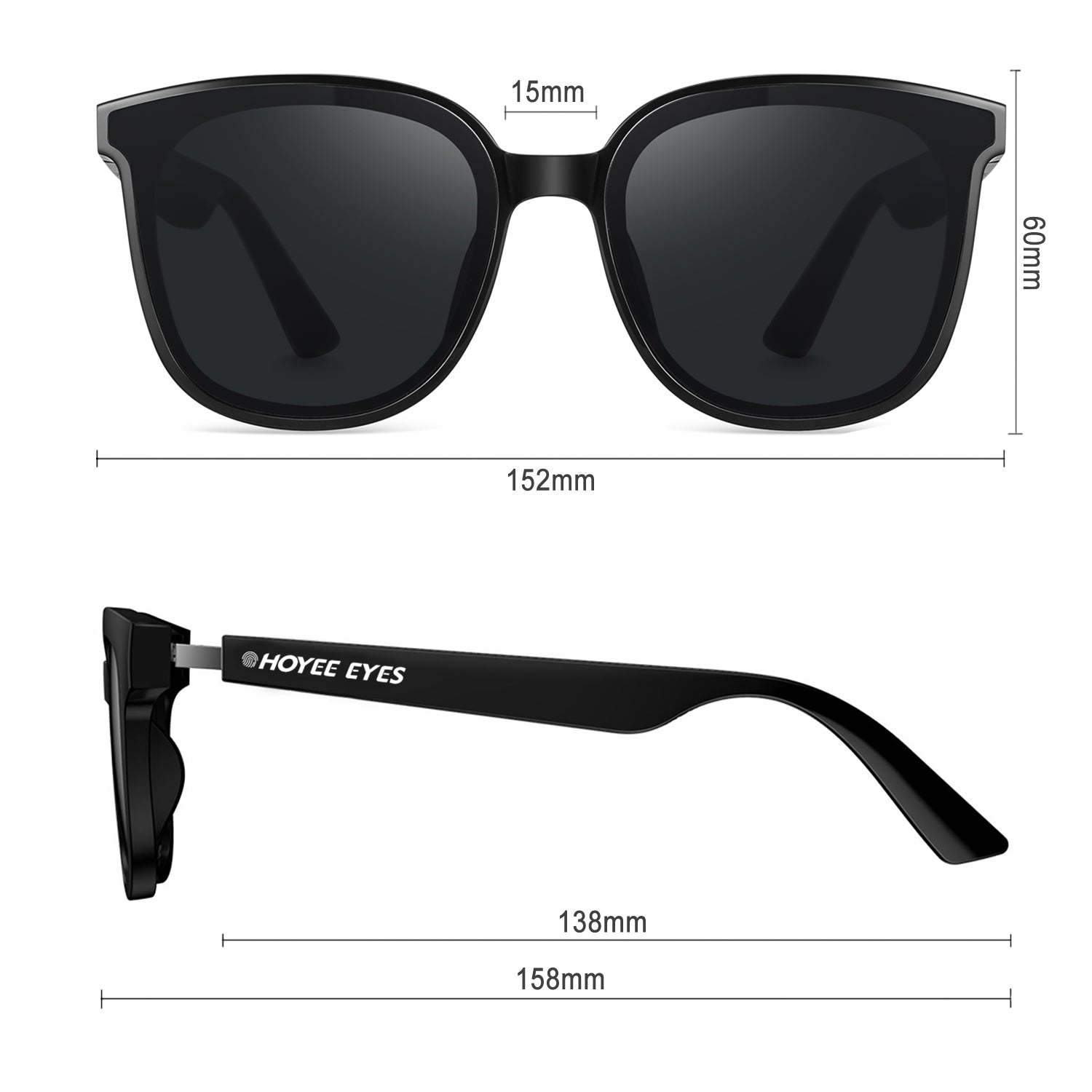 hoyee eyes galaxia smart sunglasses dimensions