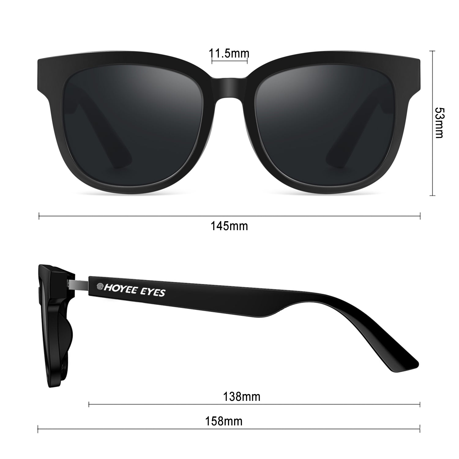 hoyee eyes nova smart sunglasses dimensions
