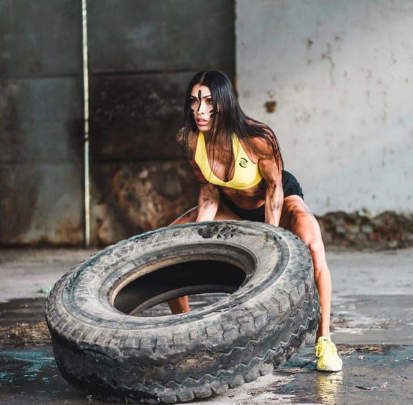 Tire workout girl