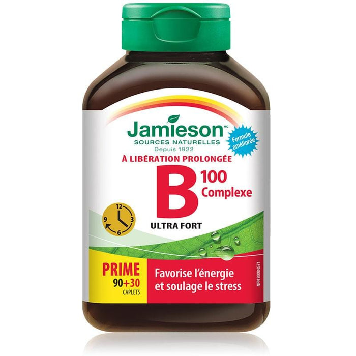 Jamieson B-Complex 100mg Time Release 120 tabs 064642025487