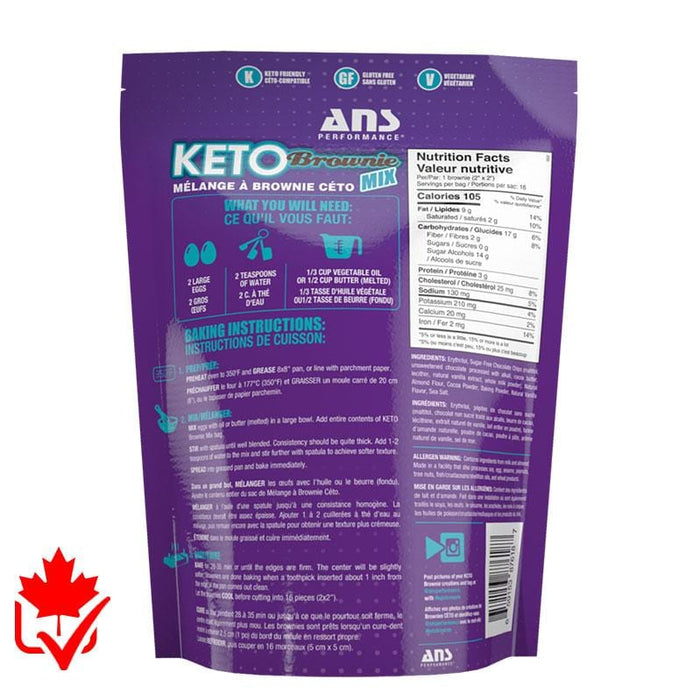 ANS Keto Brownie Mix 395g 659153876187