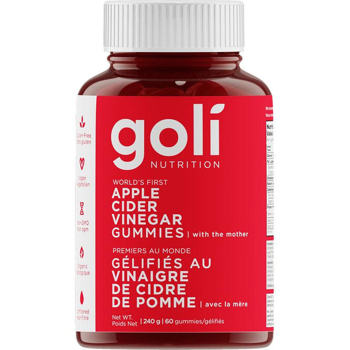 Goli Apple Cider Vinegar Gummies 60 jujubes 852386008466